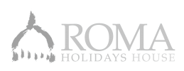 Logo_Roma Holidays House-bianco
